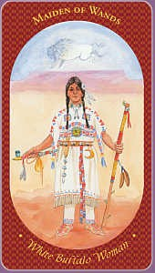 Maiden of Wands Image - White Buffalo Woman
